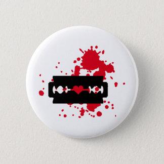 Razor Blade love blood Pinback Button