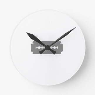 Razor blade round clock