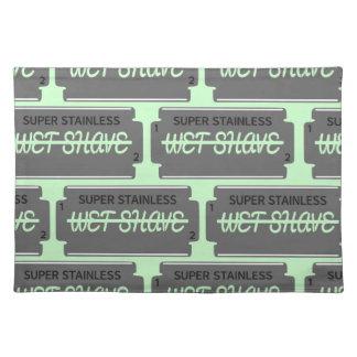 Razor Blade Wet Shave Place Mats