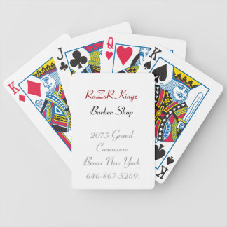 RaZoR Kingz Barber Shop Promotional Bicycle Playing Cards