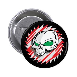 Razor Saw Skull 2 Inch Round Button
