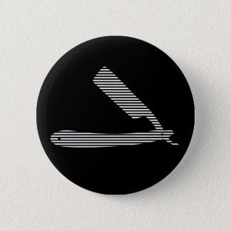 razor stripes pinback button