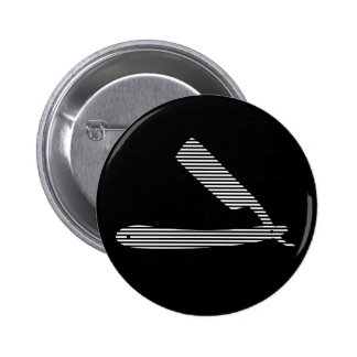 razor stripes pinback button