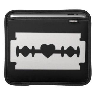 Razor with a heart shaped design iPad sleeve