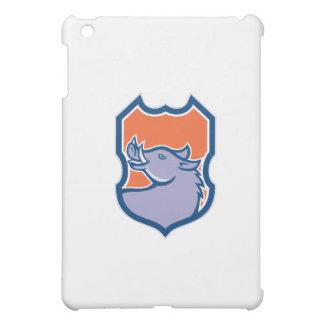 Razorback Head Looking Up Shield Retro Case For The iPad Mini
