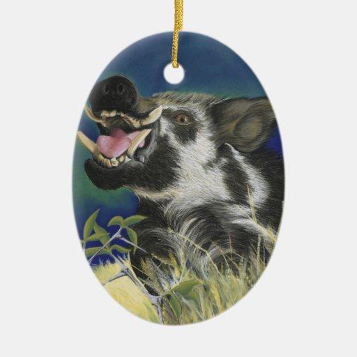 Razorback Hog Ceramic Ornament