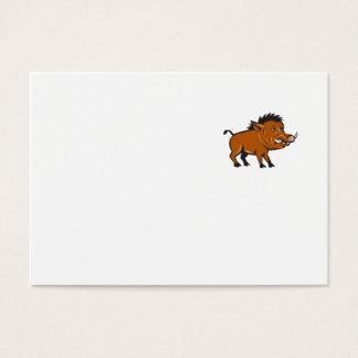 Razorback Side Cartoon Business Card