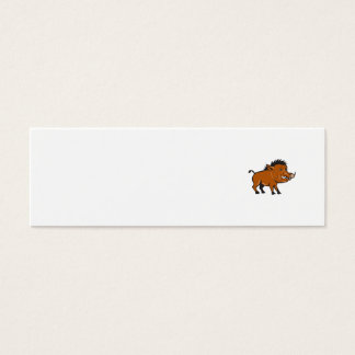 Razorback Side Cartoon Mini Business Card