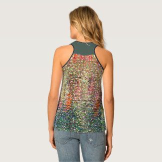 RAZORBACK TEE/MULTI-COLORED ABSTRACT/DIG FLORAL. M