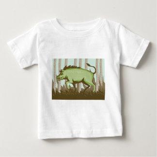 Razorback Wild Pig Boar Attacking Baby T-Shirt