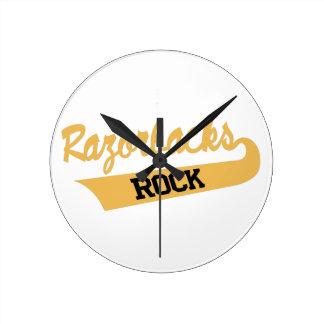 Razorbacks Rock Round Clock