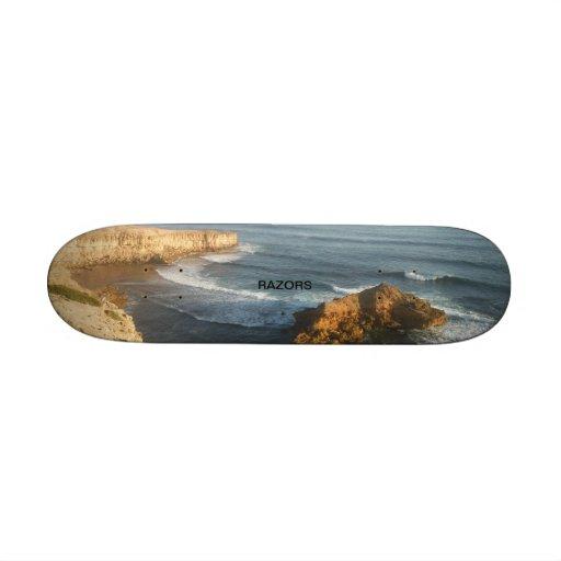 razors seascape skate deck