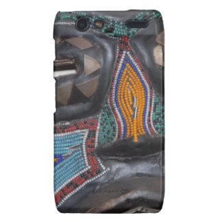 RAZR cover African tribal beaded art mask photogra Droid RAZR Cover