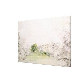 Razumovsky Palace (pencil & w/c) Canvas Print