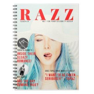 Razz Magazine Cover Notebook featuring Topaz