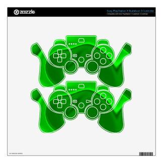 Razzle Neon Green Design PS3 Controller Decal