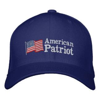 RB americano de la bandera del patriota Gorras Bordadas