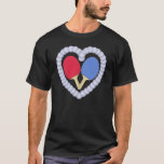 RB Ping Pong Paddle Heart T-Shirt