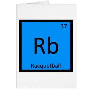 Rb - Racquetball Sports Chemistry Periodic Table Card