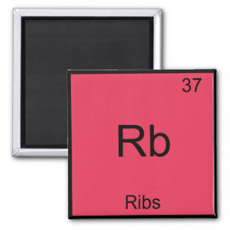Rb - Ribs Chemistry Element Symbol Funny 2 Inch Square Magnet