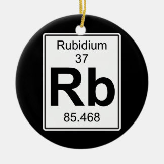 Rb - Rubidium Ceramic Ornament