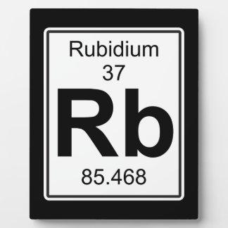 Rb - Rubidium Plaque
