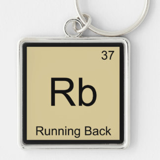 Rb - Running Back Funny Chemistry Element Tee Keychains