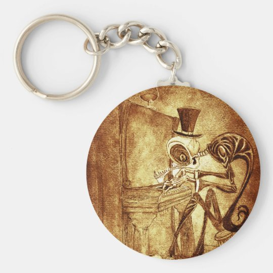 RB the piano player Keychain