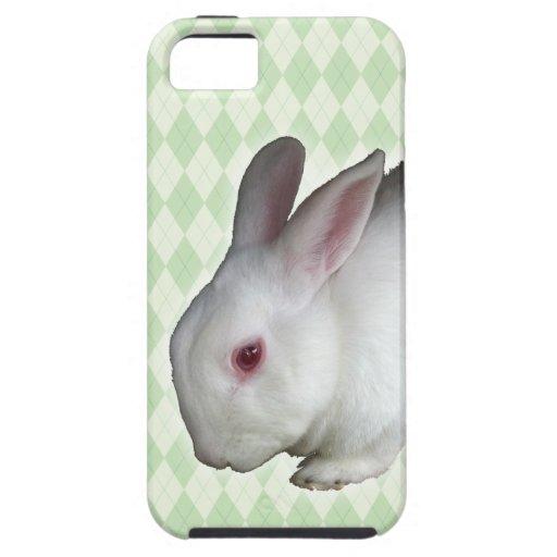 Rbbit blanco iPhone 5 cárcasas