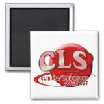 RBC CLS CLINICAL LABORATORY SCIENTIST SWOOSH LOGO 2 INCH SQUARE MAGNET