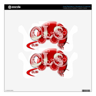 RBC CLS CLINICAL LABORATORY SCIENTIST SWOOSH LOGO SKIN FOR PS3 CONTROLLER
