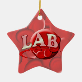 RBC LABORATORY LOGO RED BLOOD CELLS CERAMIC ORNAMENT