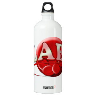 RBC LABORATORY LOGO RED BLOOD CELLS WATER BOTTLE