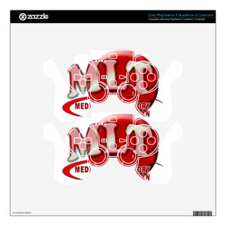 RBC MLT LABORATORY SWOOSH LOGO - MED LAB TECH DECAL FOR PS3 CONTROLLER