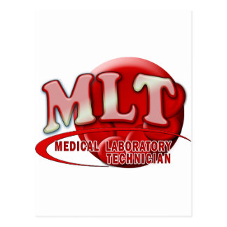 RBC MLT LABORATORY SWOOSH LOGO - MED LAB TECH POSTCARD