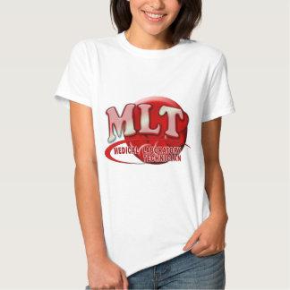RBC MLT LABORATORY SWOOSH LOGO - MED LAB TECH T SHIRTS