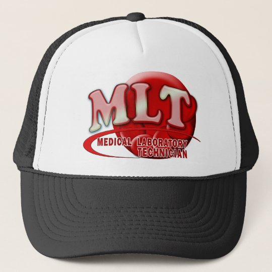 RBC MLT LABORATORY SWOOSH LOGO - MED LAB TECH TRUCKER HAT
