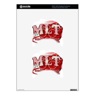 RBC MLT LABORATORY SWOOSH LOGO - MED LAB TECH XBOX 360 CONTROLLER SKIN