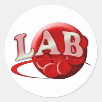 RBC MLT LABORATORY SWOOSH LOGO - MEDICAL CLINICAL STICKERS
