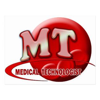 RBC MT LABORATORY SWOOSH LOGO - MEDICAL TECH POSTCARD