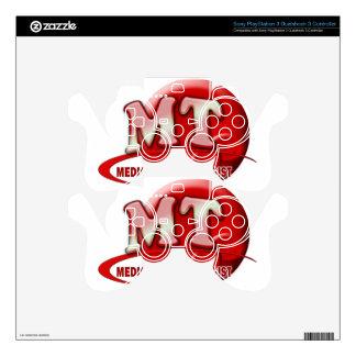 RBC MT LABORATORY SWOOSH LOGO - MEDICAL TECH PS3 CONTROLLER SKIN