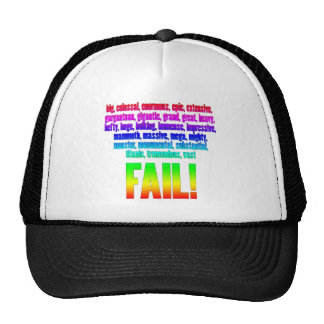 RBF Rainbow Mesh Hats