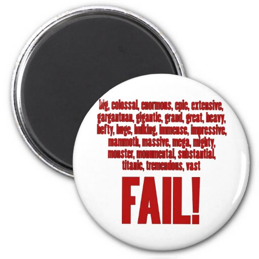 RBF Red, Black Outline 2 Inch Round Magnet