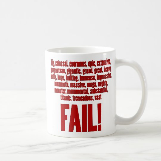 RBF Red, Black Outline Coffee Mug
