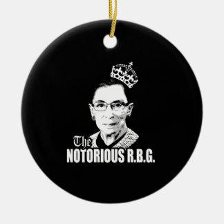 RBG notorio Adorno Navideño Redondo De Cerámica