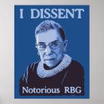 RBG notorio Póster