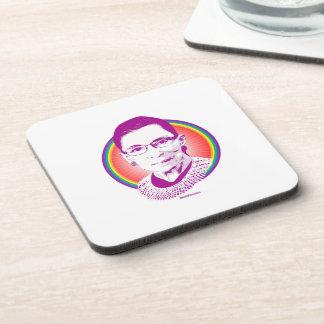 RBG Rainbow Justice Purple Beverage Coasters