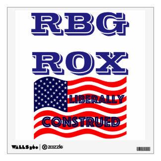 RBG ROX Ginsburg Liberal Democrat Democratic Party Wall Decal