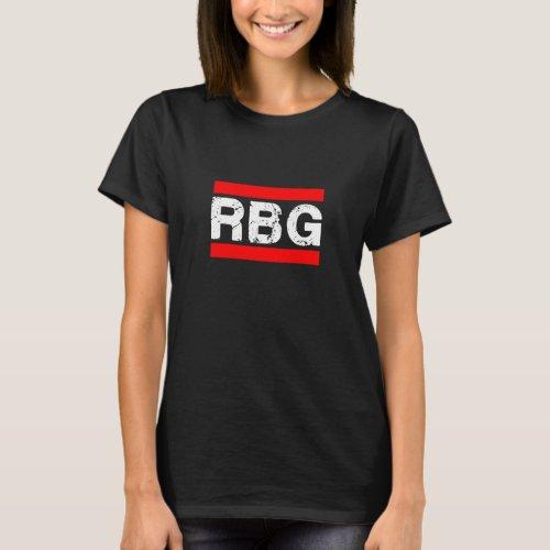 RBG Ruth Bader Ginsburg Old School Rap T_Shirt