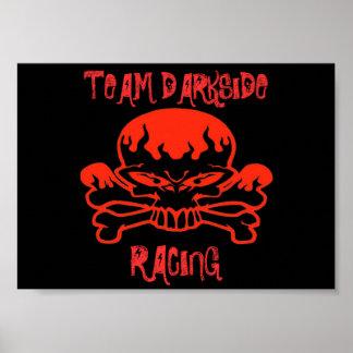 rbskull, TEAM DARKSIDE, RACING Poster